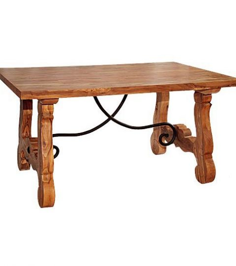 Living Room Low Table With Wrought Iron Model San Antonio