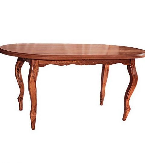 Dining Table With Solid Top Model Castro 120x80x80
